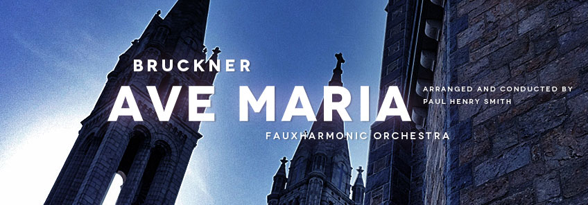 Choral music arranged for string orchestra: Bruckner, Ave Maria